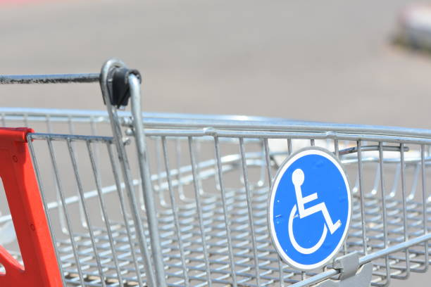 Shopping cart for the disabled stock photo