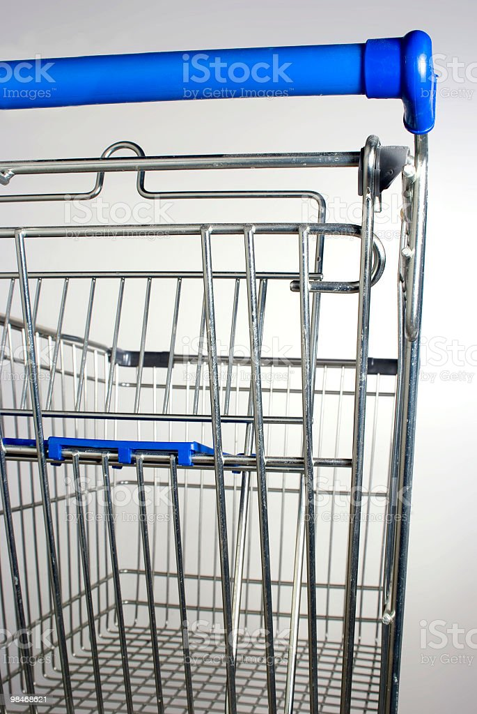 Shopping cart from behind royalty-free stock photo