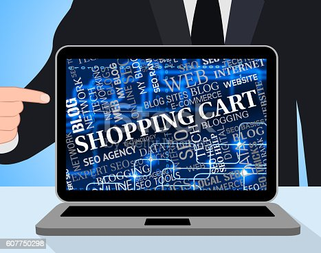 Shopping Cart Meaning Payment Trolley And Buy