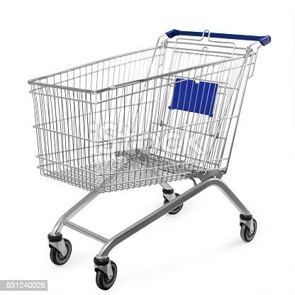 istock shopping cart isolated on white background 531240026