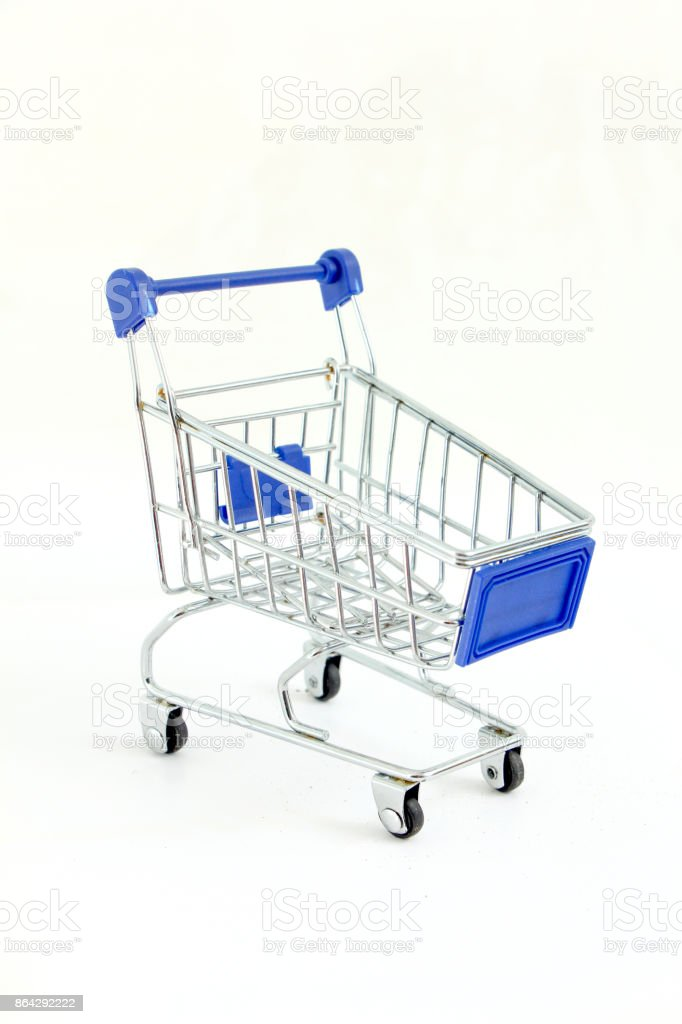shopping cart isolated on white background royalty-free stock photo