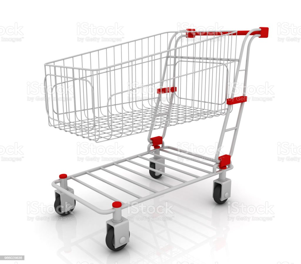 Shopping cart isolated on white background - Royalty-free Business Stock Photo