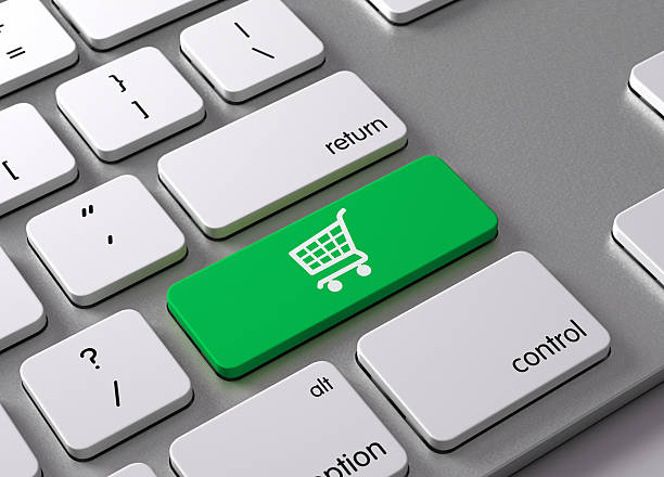 Shopping Cart A keyboard with a green button Shopping Cart enter key stock pictures, royalty-free photos & images