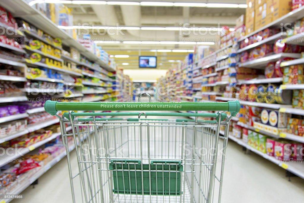 shopping cart. stock photo