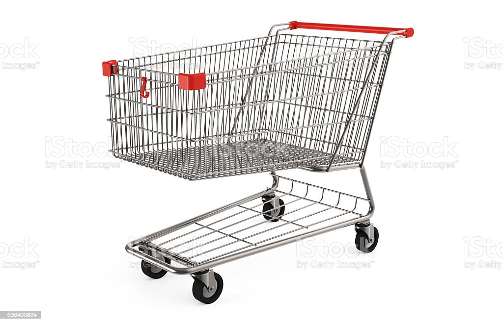 Shopping cart stock photo