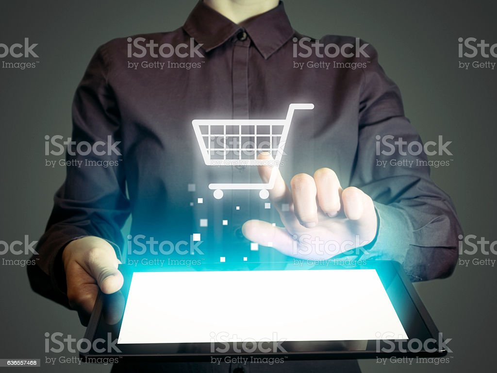 Cesta de compras  - foto de stock