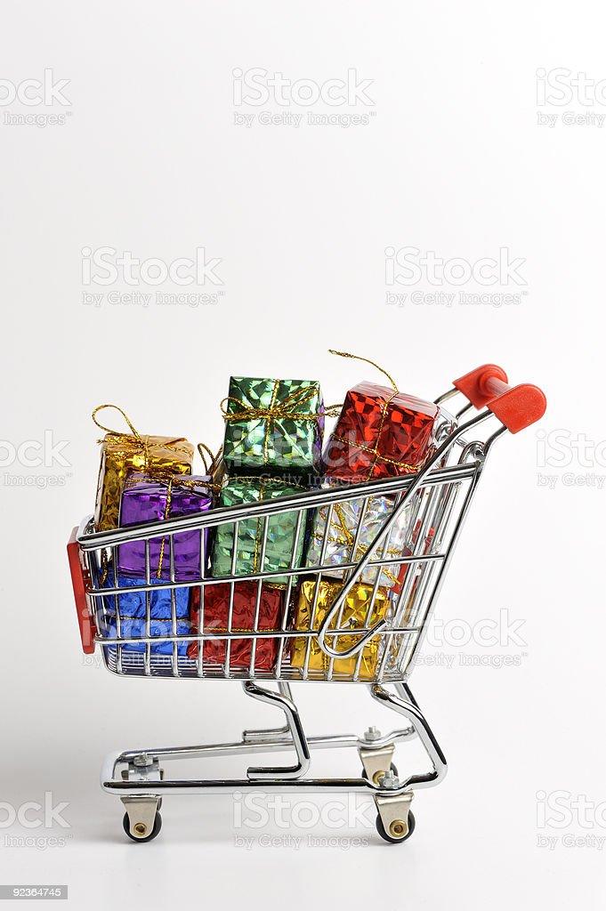 Shopping Einkaufswagen Lizenzfreies stock-foto