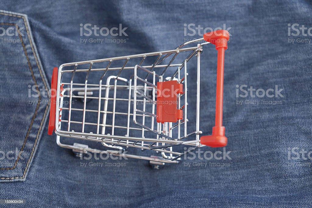 Shopping cart series royalty-free stock photo