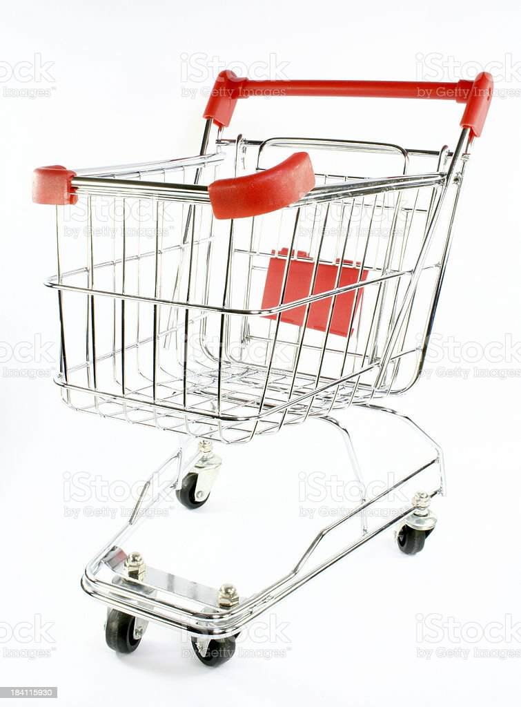 shopping cart trolley royalty-free stock photo