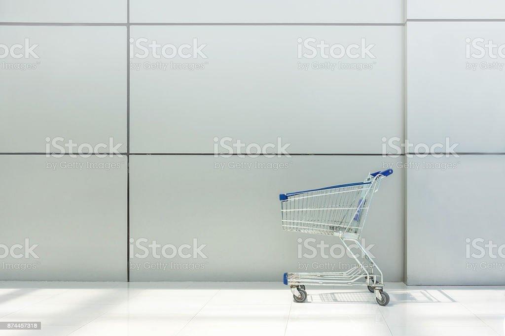 Shopping Cart , White Background stock photo