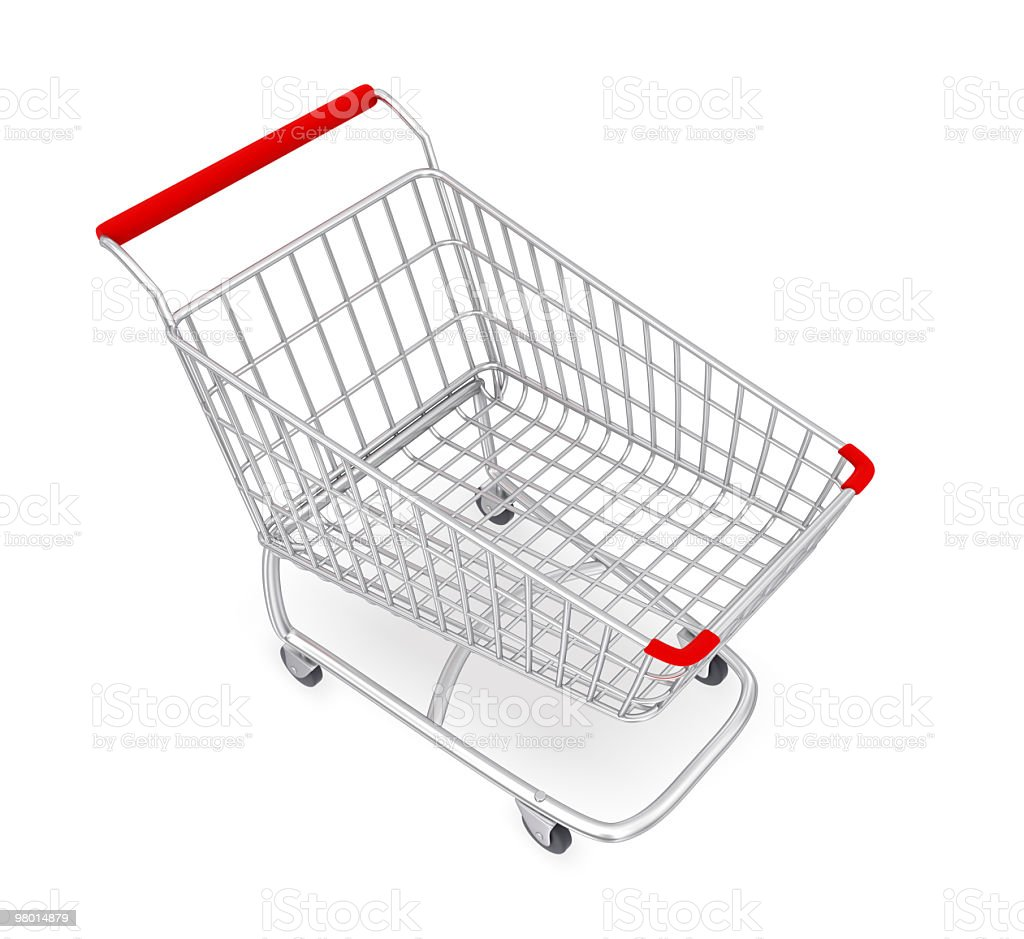 Shopping Cart with Clipping Path royalty-free stock photo