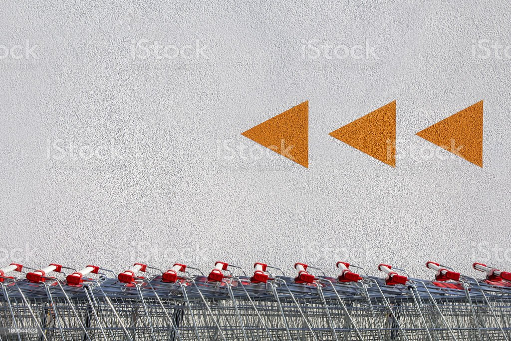 Shopping Carts and Arrows stock photo