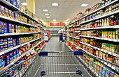istock Shopping carts in the supermarket 672450320