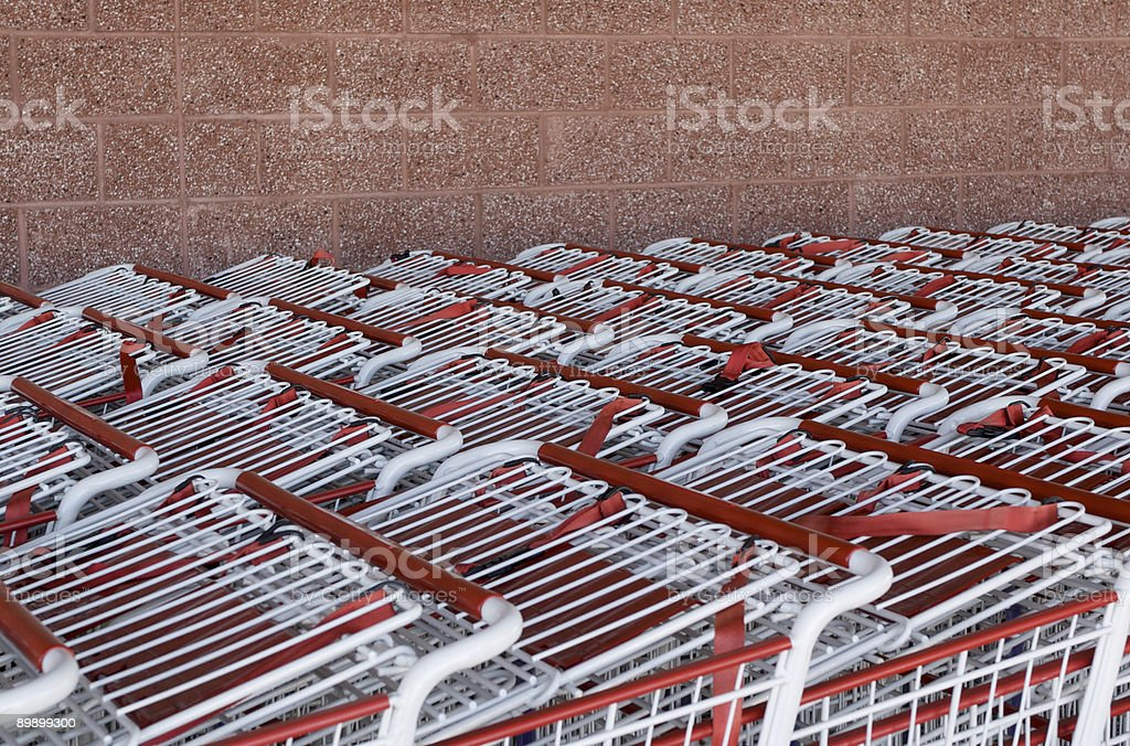 Shopping Carts with copy space above royalty-free stock photo