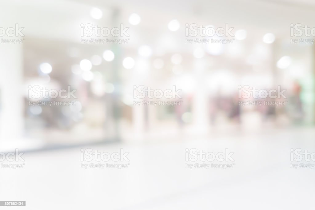 Shopping center backgrund stock photo