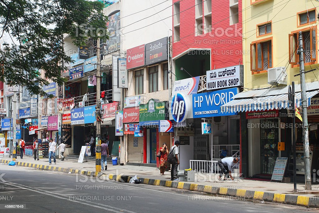 Shopping center in Bangalore, India royalty-free stock photo