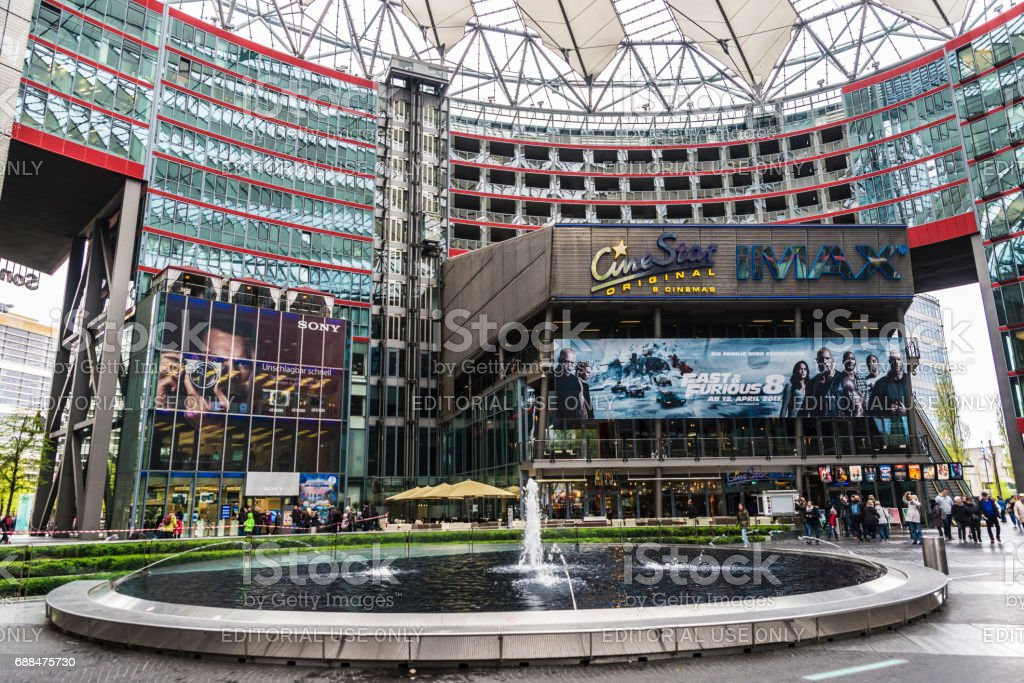Shopping center in Berlin, Germany stock photo