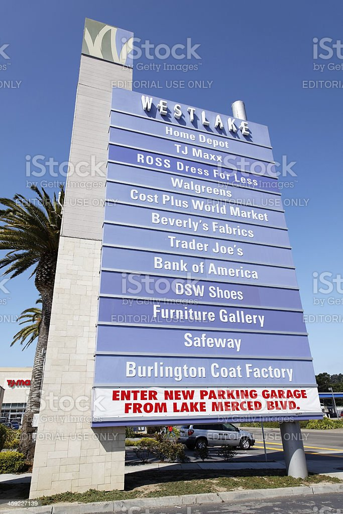 Shopping Center Lisiting stock photo
