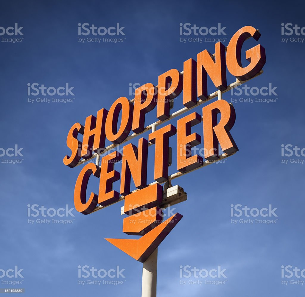 Shopping center sign royalty-free stock photo
