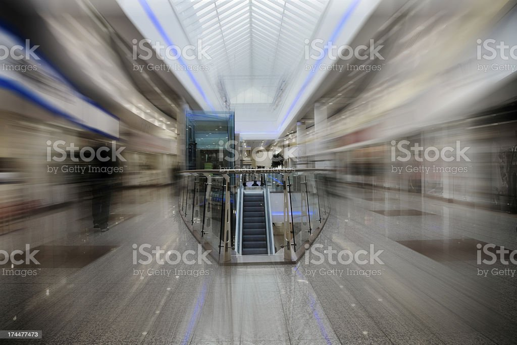 Shopping Centre-Motion Blurred. Related Images Below royalty-free stock photo