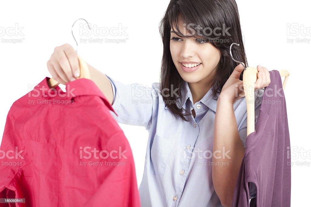Shopping cloths. royalty-free stock photo