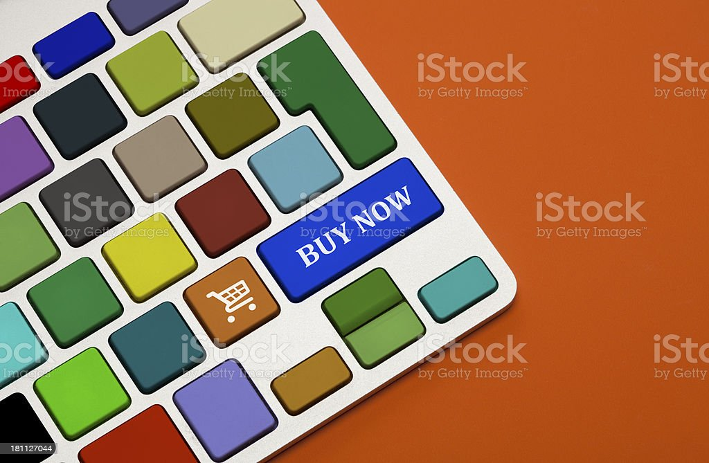 Shopping Concept on Keyboard-Buy Now! royalty-free stock photo