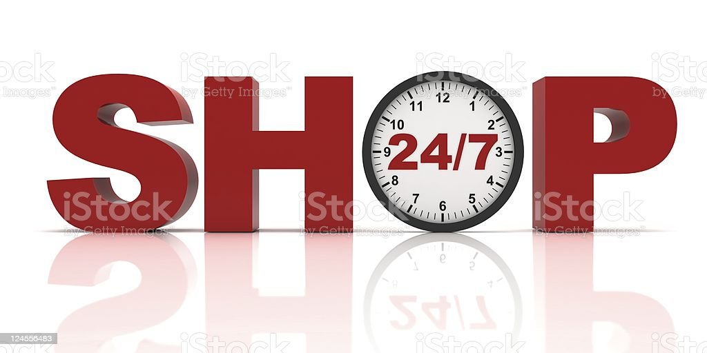 24/7 Shopping Concept royalty-free stock photo