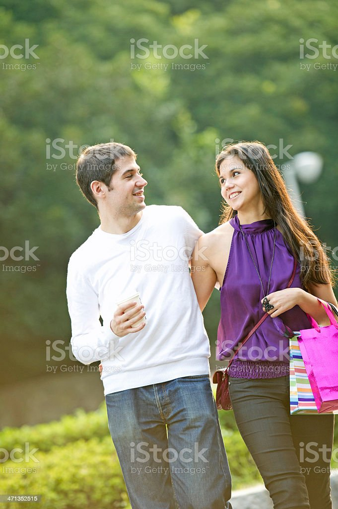Shopping date royalty-free stock photo