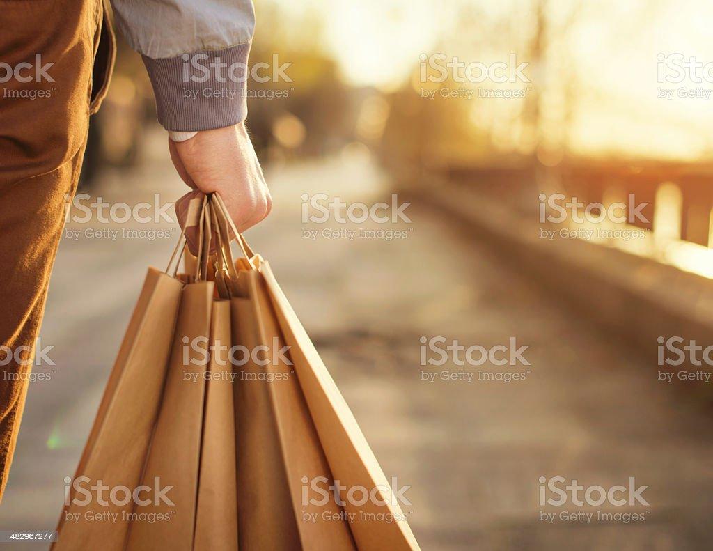 Shopping day stock photo