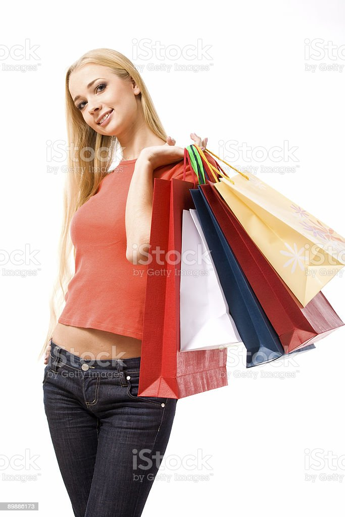 Shopping day royalty free stockfoto