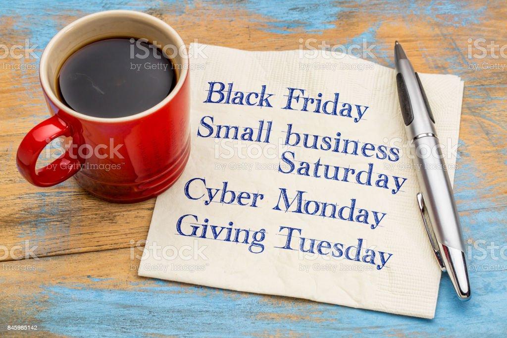 Días después de acción de Gracias día de compras foto de stock libre de derechos