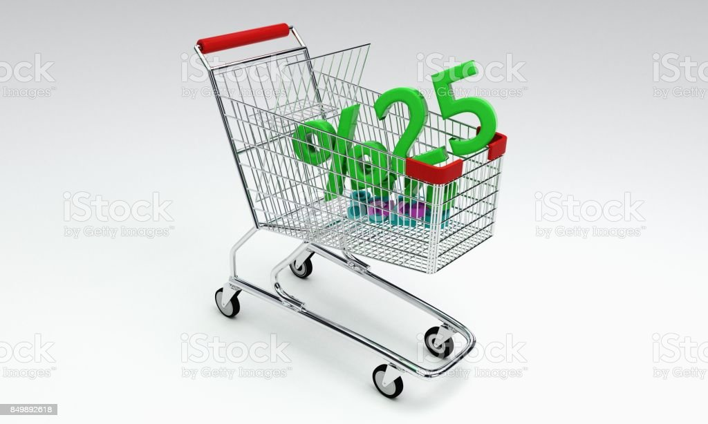 Shopping discount of background, 3d stock photo