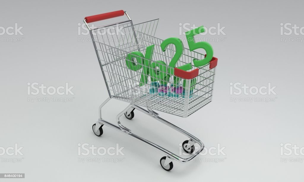 Shopping discount of background, 3d render stock photo