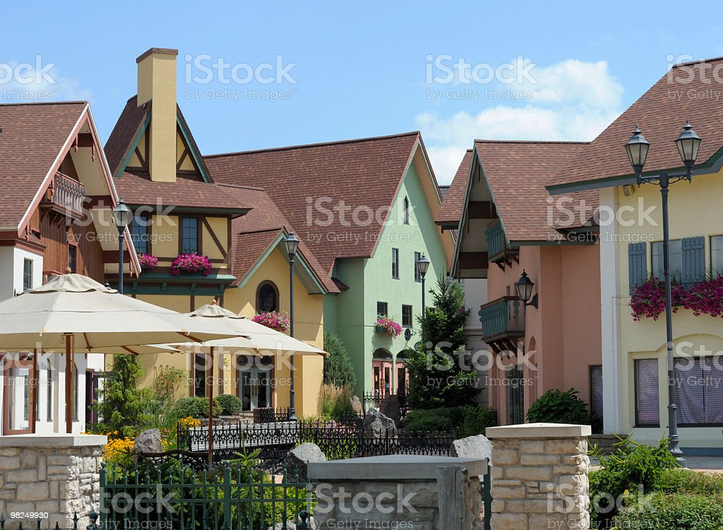 Shopping District, Frankenmuth, Michigan royalty-free stock photo
