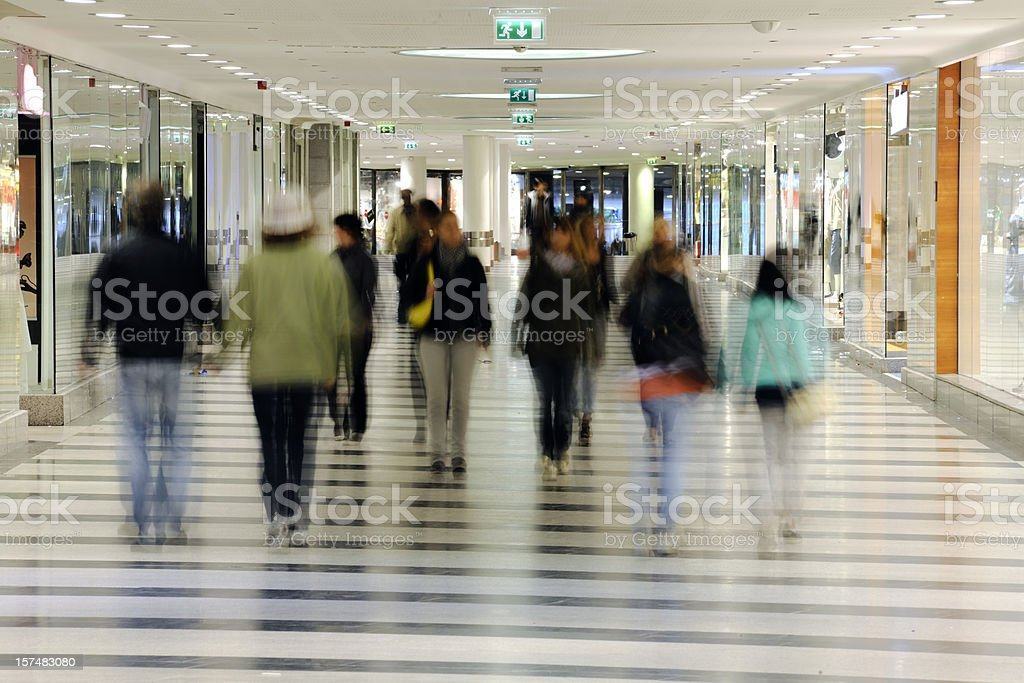 Shopping district royalty-free stock photo