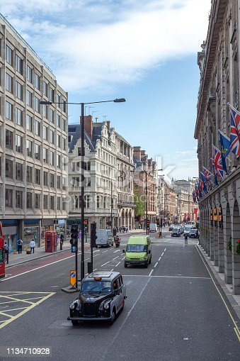 Shopping District Street in London England