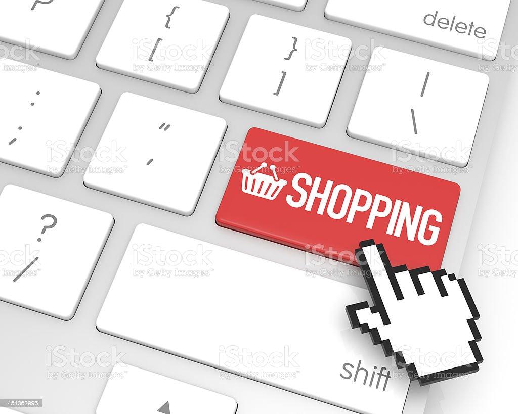 Shopping Enter Key royalty-free stock photo