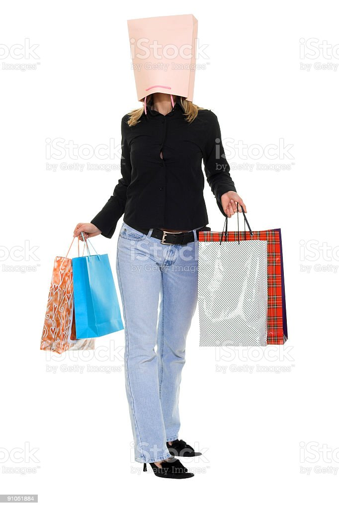 Shopping Euphoria royalty-free stock photo