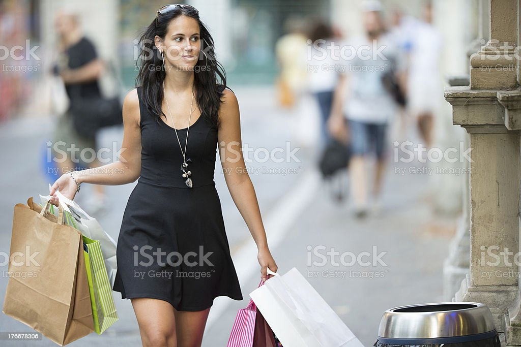 Shopping fever royalty-free stock photo