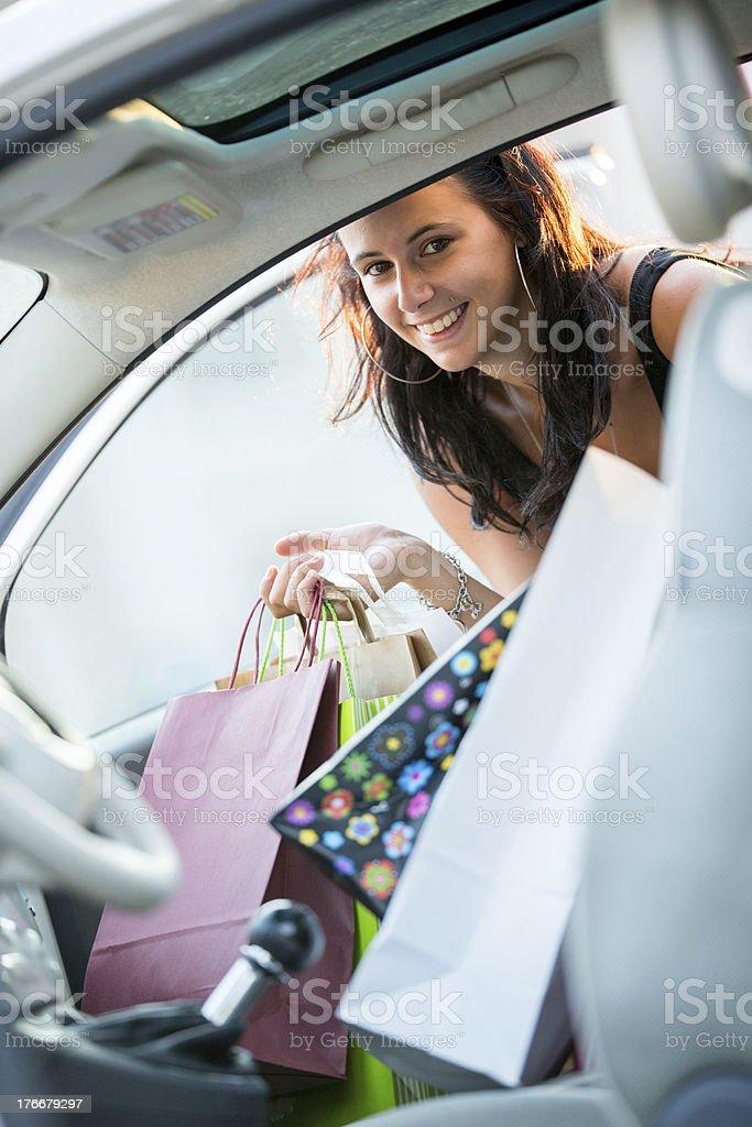 Shopping fever royalty-free stock photo