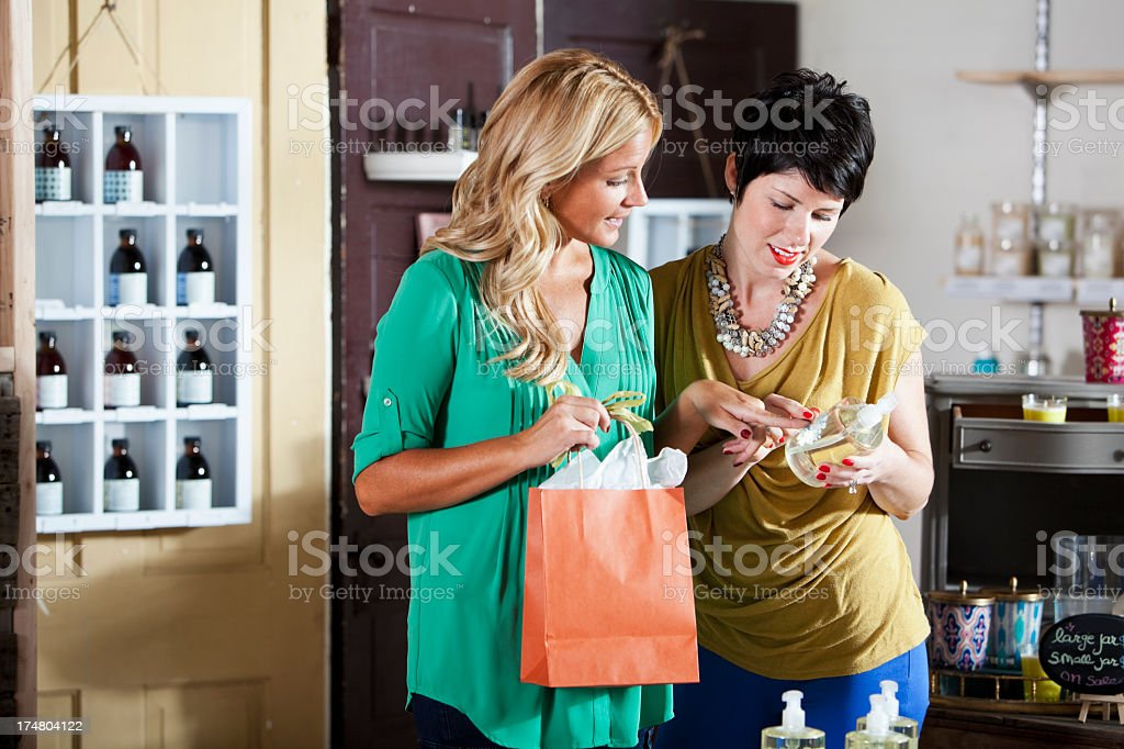 Shopping for beauty products royalty-free stock photo