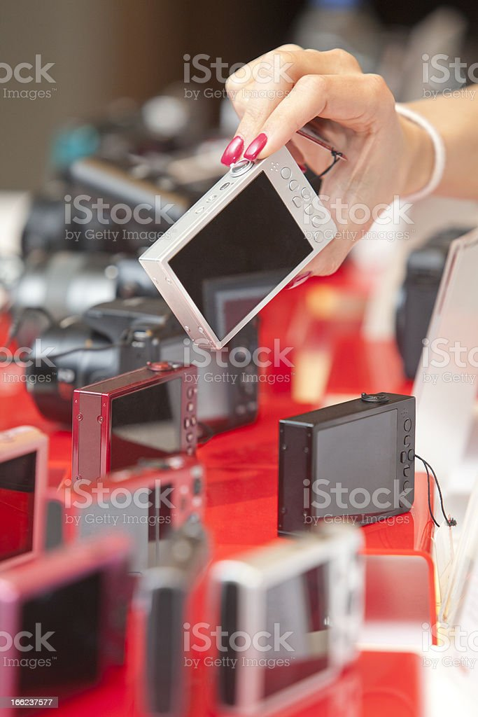 Shopping for camera royalty-free stock photo