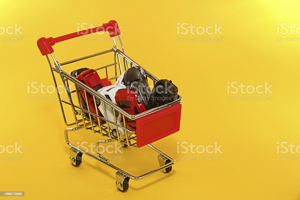 Shopping for cars royalty-free stock photo