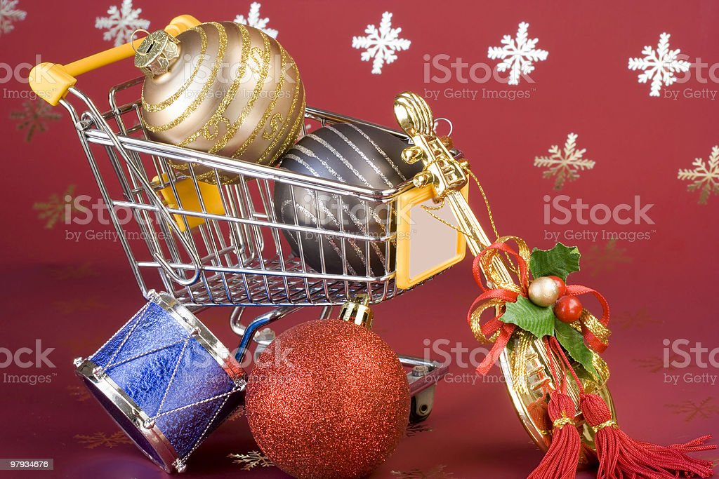 Shopping for Christmas royalty-free stock photo