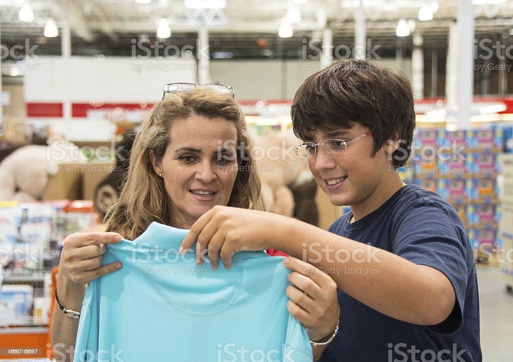 shopping for clothes stock photo