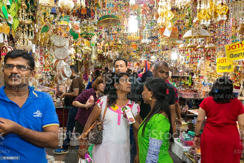 Shopping for Deepavali / Diwali Festive Season. Singapore stock photo