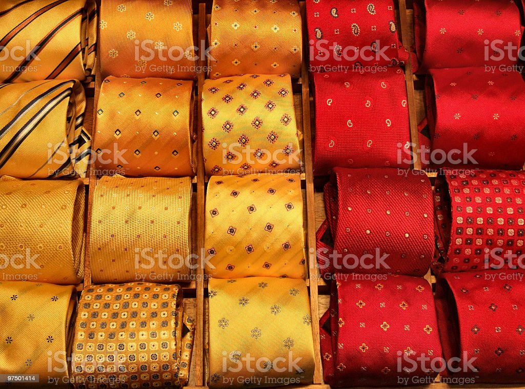 Shopping for fashionable ties royalty-free stock photo