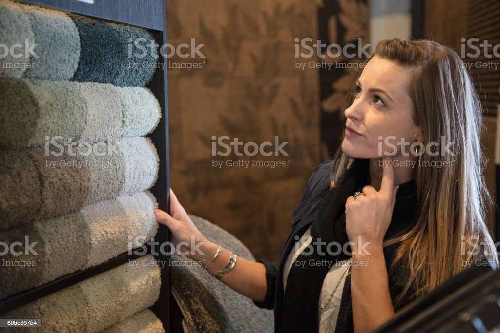 Shopping for flooring stock photo