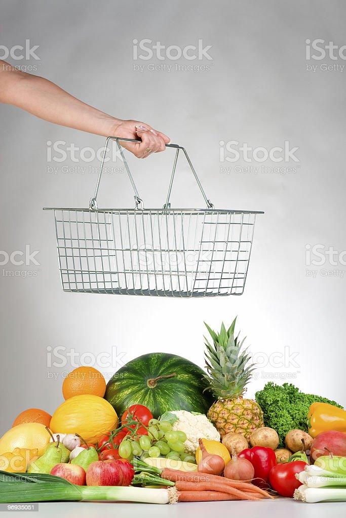 Shopping for fresh produce royalty-free stock photo