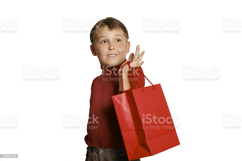 Shopping for gifts royalty-free stock photo